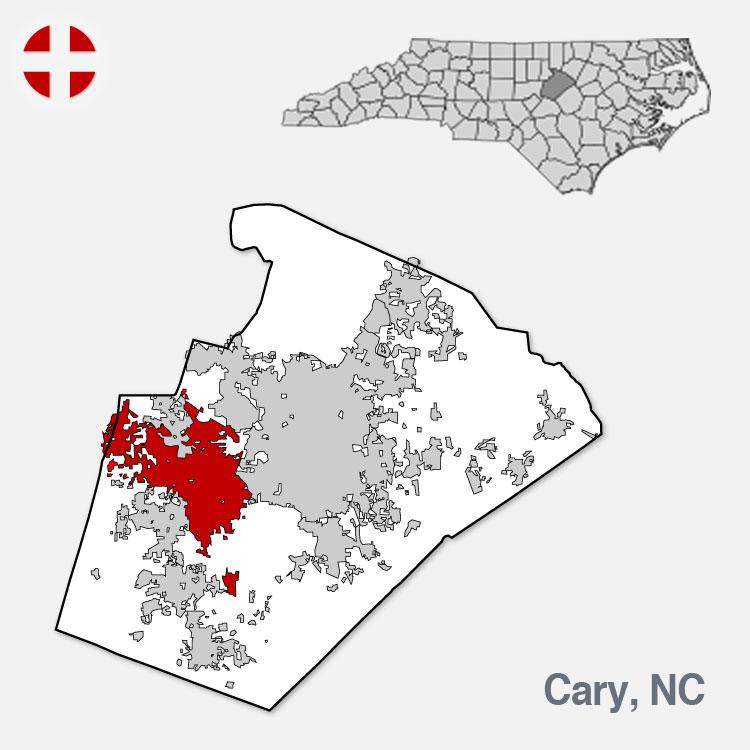 Cary, NC - City Border
